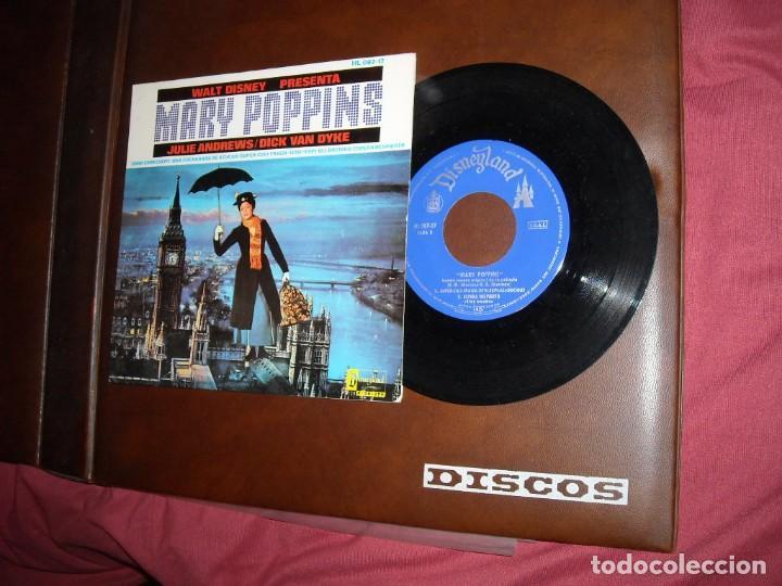 WALT DISNEY PRESENTA: MARY POPPINS EP HISPAVOX 1965 –VERSION EN INGLES VER FOTOS (Música - Discos de Vinilo - EPs - Bandas Sonoras y Actores)