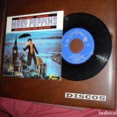 Discos de vinilo: WALT DISNEY PRESENTA: MARY POPPINS EP HISPAVOX 1965 –VERSION EN INGLES VER FOTOS. Lote 160949130
