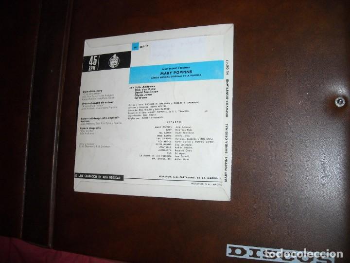 Discos de vinilo: WALT DISNEY PRESENTA: MARY POPPINS EP HISPAVOX 1965 –VERSION EN INGLES VER FOTOS - Foto 2 - 160949130