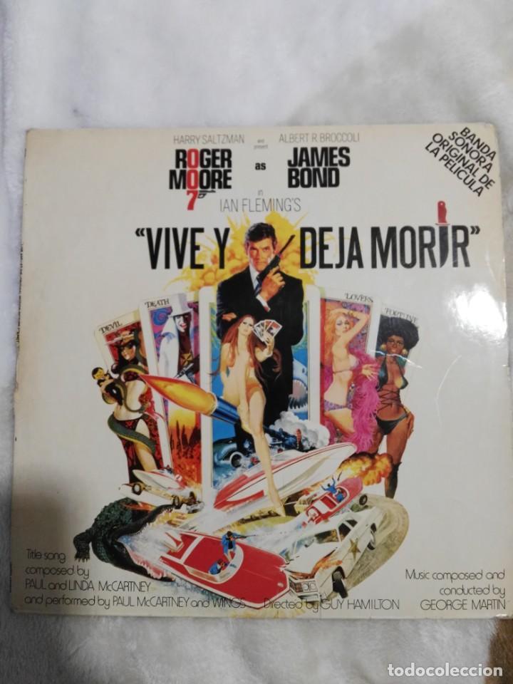 VIVE Y DEJA MORIR-GEORGE MARTIN+PAUL MCCARTNEY-1975-JAMES BOND ESPAÑA BEATLES (Música - Discos - LP Vinilo - Bandas Sonoras y Música de Actores )