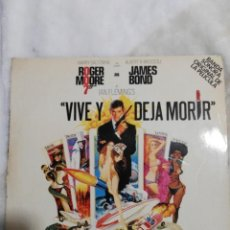 Discos de vinilo: VIVE Y DEJA MORIR-GEORGE MARTIN+PAUL MCCARTNEY-1975-JAMES BOND ESPAÑA BEATLES . Lote 160964526