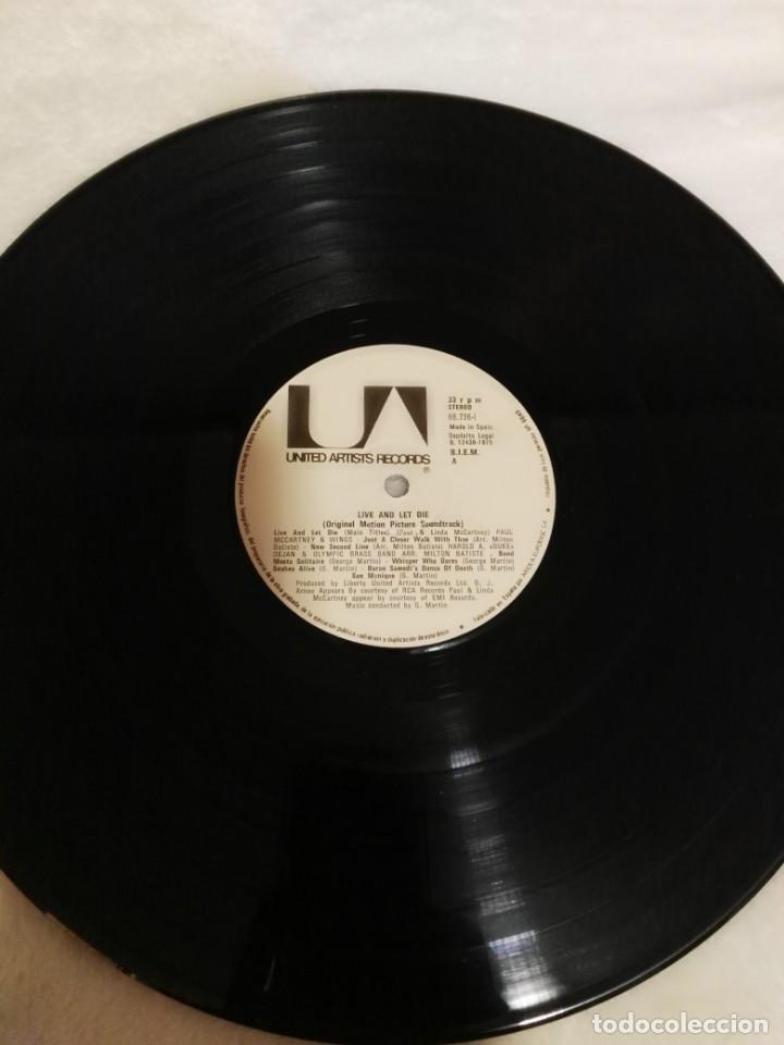 Discos de vinilo: VIVE Y DEJA MORIR-GEORGE MARTIN+PAUL MCCARTNEY-1975-James bond ESPAÑA BEATLES - Foto 4 - 160964526