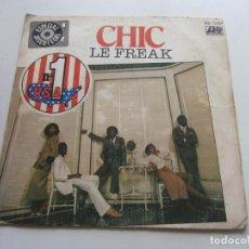 Disques de vinyle: CHIC , LE FREAK 1978 . SINGLE 45 RPM - VSD09. Lote 160977570