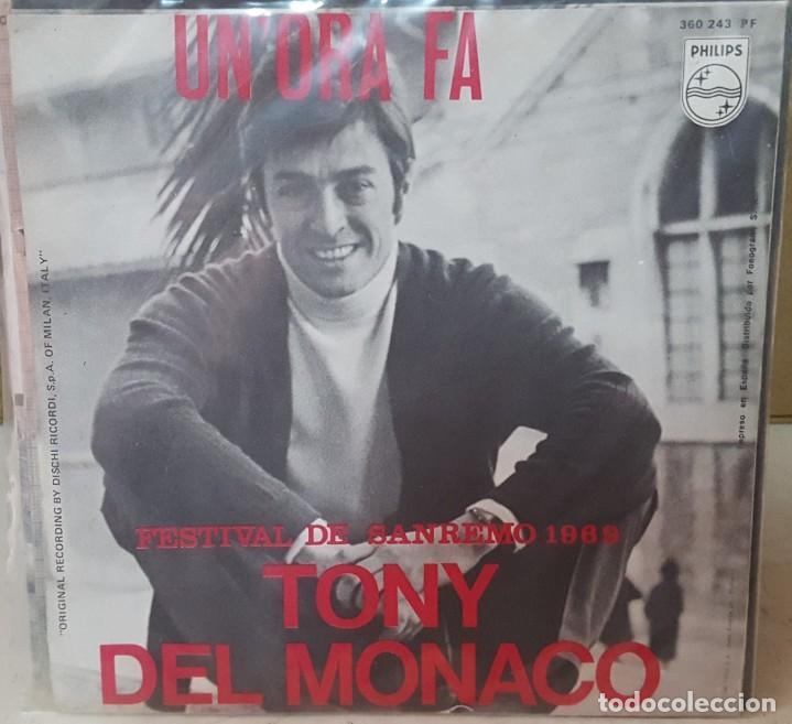Discos de vinilo: SINGLE / TONY DEL MONACO / UNORA FA / FESTIVAL DE SANREMO 1969 - Foto 2 - 160979562