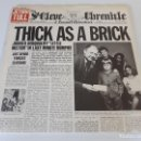 Discos de vinilo: JETHRO TULL - THICK AS A BRICK - ORIGINAL SPAIN 1972 - PROG-ROCK - EDICION PERIODICO - DISCO MINT!. Lote 160980870