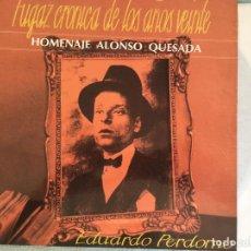Discos de vinilo: LP EDUARDO PERDOMO- FUGAZ CRONICA AÑOS VEINTE. Lote 160994398