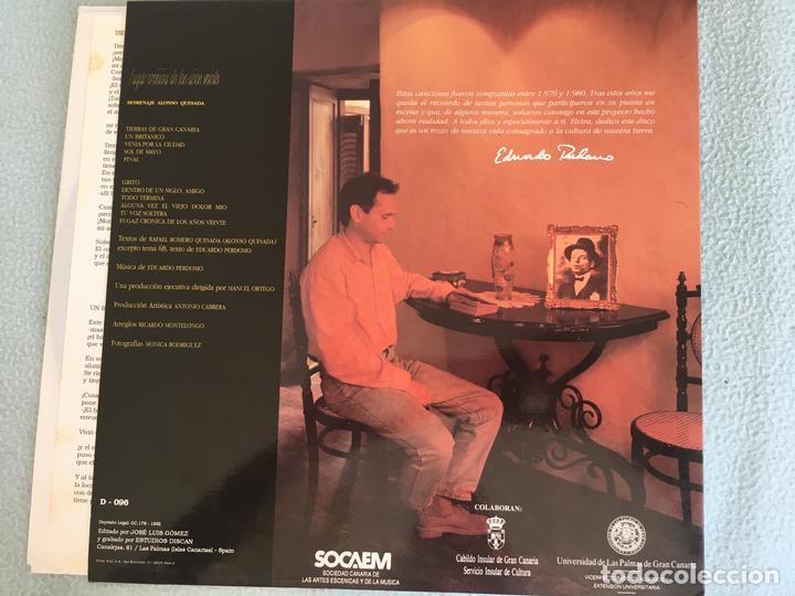 Discos de vinilo: LP EDUARDO PERDOMO- FUGAZ CRONICA AÑOS VEINTE - Foto 2 - 160994398