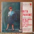 Discos de vinilo: ** RITA PAVONE - QUE ME IMPORTA EL MUNDO / CORAZÓN +2 - EP AÑO 1964 - LEER DESCRIPCIÓN. Lote 160996526