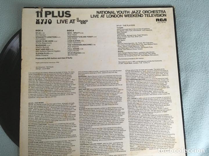 Discos de vinilo: LP 11 PLUS-NYJO LIVE AT LWT - Foto 2 - 161013078