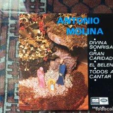 Discos de vinilo: ANTONIO MOLINA. DIVINA SONRISA. EP.. Lote 161032866