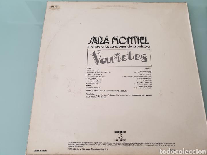 Discos de vinilo: LP. Sara Sarita Montiel. Canciones de peliculas: Varietes , El último cuplé. - Foto 5 - 161064573