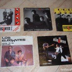 Discos de vinilo: LOS ELEGANTES- LOTE DE CINCO SINGLES-. Lote 161072886