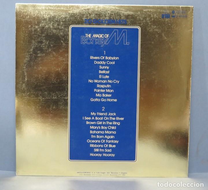 Discos de vinilo: LP. 20 GOLDENHITS. THE MAGIC OF BONEY M - Foto 2 - 161073478