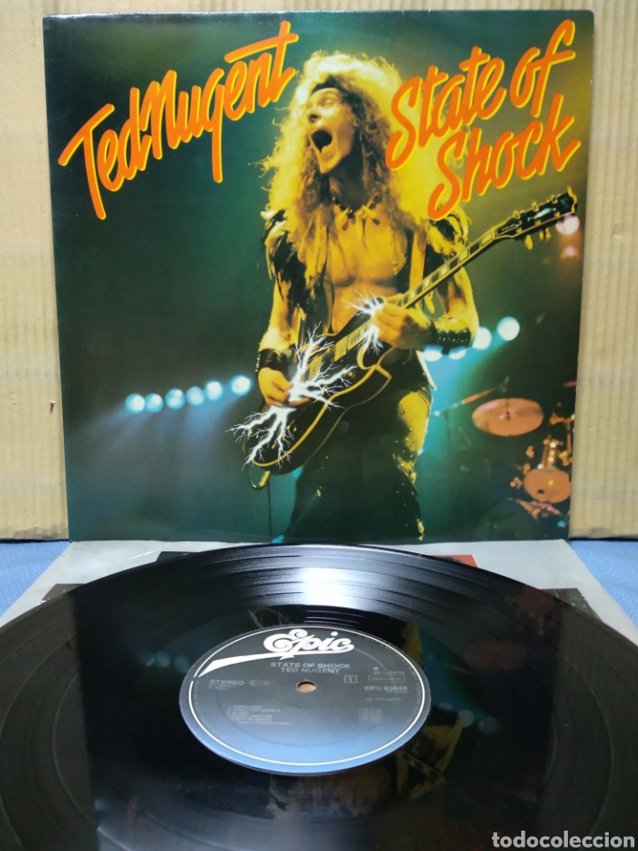TED NUGENT - STATE OF SHOCK 1979 ND CON ENCARTE (Música - Discos - LP Vinilo - Pop - Rock - Extranjero de los 70)