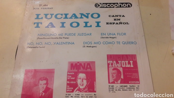 Discos de vinilo: 1966 Luciano Taioli canta Español discophan 27484 - Foto 4 - 161081820