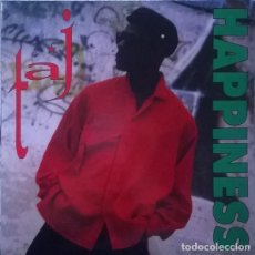 Discos de vinilo: TAJ - HAPPINESS - MAXI-SINGLE BOL RECORDS SPAIN 1994 TECHNO. Lote 161085894
