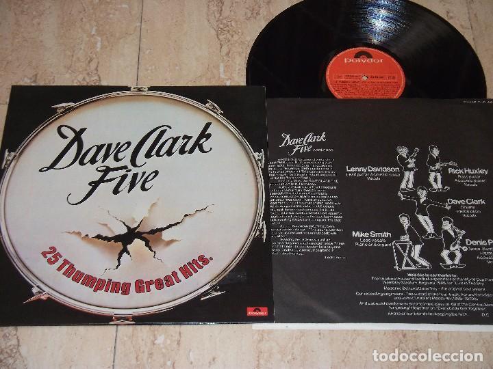THE DAVE CLARK FIVE – 25 THUMPING GREAT HITS -LP- POLYDOR – 23 83 492-ESPAÑA-1978-+INSERT (Música - Discos - LP Vinilo - Pop - Rock - Extranjero de los 70)