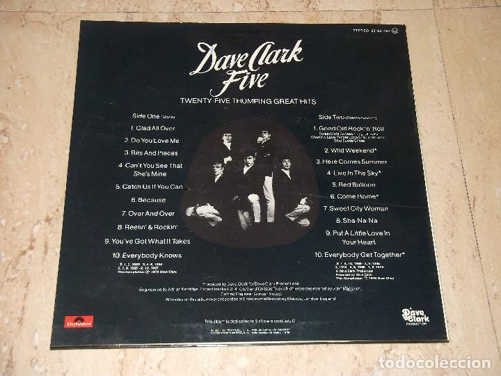 Discos de vinilo: The Dave Clark Five – 25 Thumping Great Hits -LP- Polydor – 23 83 492-ESPAÑA-1978-+INSERT - Foto 2 - 161087914