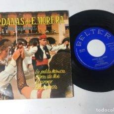 Discos de vinilo: ANTIGUO SINGLE EP ORIGINAL AÑOS 50/60 SARDANAS DE E MORERA. Lote 161088558