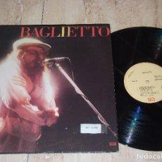 Discos de vinilo: JUAN CARLOS BAGLIETTO – BAGLIETTO-LP- EMI – 064-4240611-ESPAÑA- 1984-PROMOCIONAL-. Lote 161093586