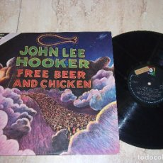 Discos de vinilo: JOHN LEE HOOKER ?– FREE BEER AND CHICKEN- ABC RECORDS-1975- ESPAÑA PRIMERA EDICION-PROMOCIONAL. Lote 161099982