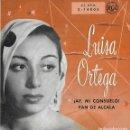 Discos de vinilo: LUISA ORTEGA. 2 VINILOS 45 RPM.. Lote 161102006