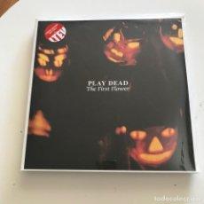 Discos de vinilo: PLAY DEAD - THE FIRST FLOWER (1983) - LP DOBLE LTEV 2015 NUEVO - VINILO ROJO. Lote 161102982