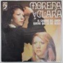 Discos de vinilo: MORENA Y CLARA - EL CAMINO DEL AMOR / QUIERO QUE TU ME BESES SG ED ESPAÑOLA 1977. Lote 161113534