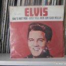 Discos de vinilo: ELVIS PRESLEY - SHE´S NOT YOU (SG) 1978. TRICENTRO. Lote 161119310