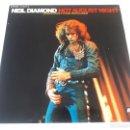 Discos de vinilo: NEIL DIAMOND - HOT AUGUST NIGHT - DOBLE LP GATEFOLD - ORIGINAL SPAIN 1972 - DISCO MINT!. Lote 161123374