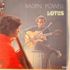 Discos de vinilo: BADEN POWELL -LOTUS- LP DISQUES FESTIVAL FRANCE. Lote 161128070