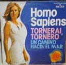 Discos de vinilo: SINGLE / HOMO SAPIENS / TORNERAI TORNERO - UN CAMINO HACIA EL MAR / 1975. Lote 161130366