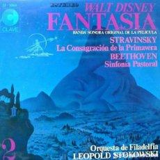 Discos de vinilo: WALT DISNEY FANTASIA VOL. 2 ORQUESTA DE FILADELFIA - LEOPOLD STOKOWSKI - LP SPAIN 1968. Lote 161144758