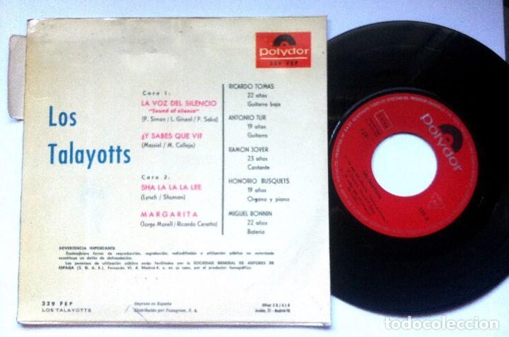 Discos de vinilo: LOS TALAYOTTS - sha la la la lee - EP 1966 - POLYDOR - Foto 2 - 161147918
