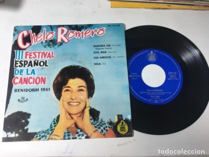 ANTIGUO SINGLE EP ORIGINAL AÑOS 50/60 CHELO ROMERO FESTIVAL DE LA CANCIÓN DE BENIDORM 1961 (Música - Discos de Vinilo - EPs - Otros Festivales de la Canción)