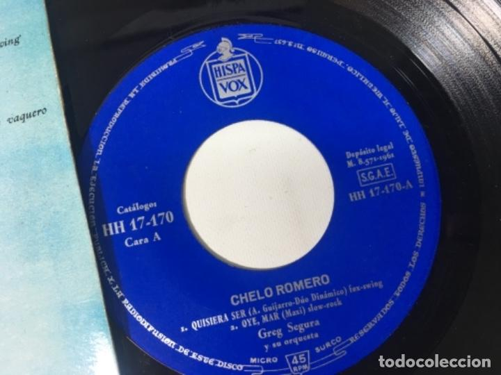 Discos de vinilo: Antiguo single ep original años 50/60 Chelo Romero Festival de la canción de Benidorm 1961 - Foto 2 - 161166390