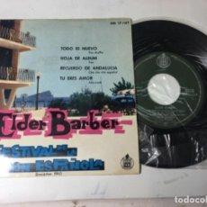 Disques de vinyle: ANTIGUO SINGLE EP ORIGINAL AÑOS 50/60 FESTIVAL DE LA CANCIÓN DE BENIDORM 19611 ELDER BARBER. Lote 161166558