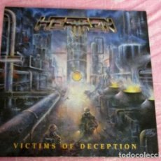 Discos de vinilo: LP HEATHEN VICTIMS OF DECEPTION 1991 NUEVO. Lote 161172502
