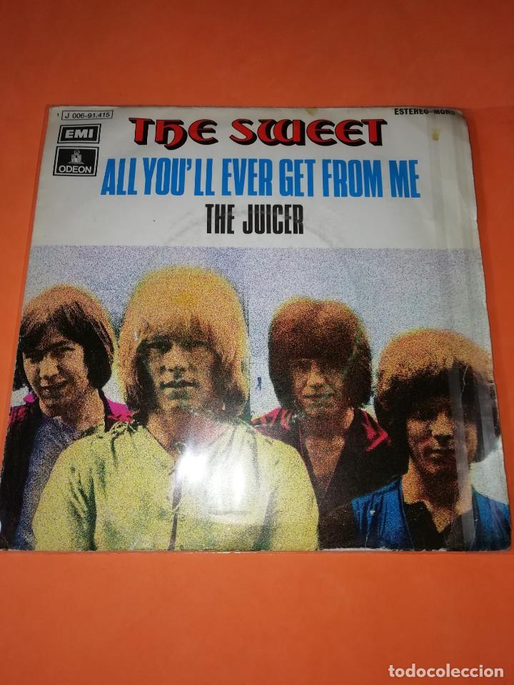 THE SWEET - ALL YOU´LL EVER GET FROM ME / THE JUICER (45 RPM) EMI 1971 - RARO- BUEN ESTADO (Música - Discos - Singles Vinilo - Pop - Rock - Extranjero de los 70)