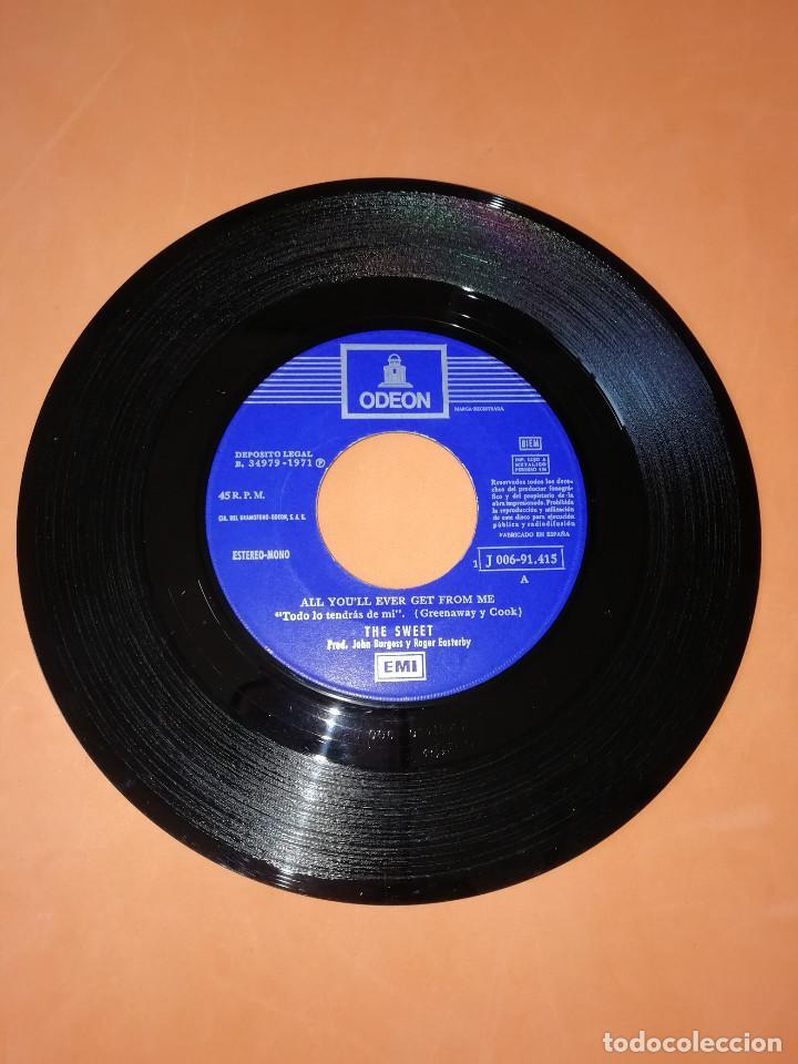 Discos de vinilo: THE SWEET - ALL YOU´LL EVER GET FROM ME / THE JUICER (45 RPM) EMI 1971 - RARO- BUEN ESTADO - Foto 3 - 161206030