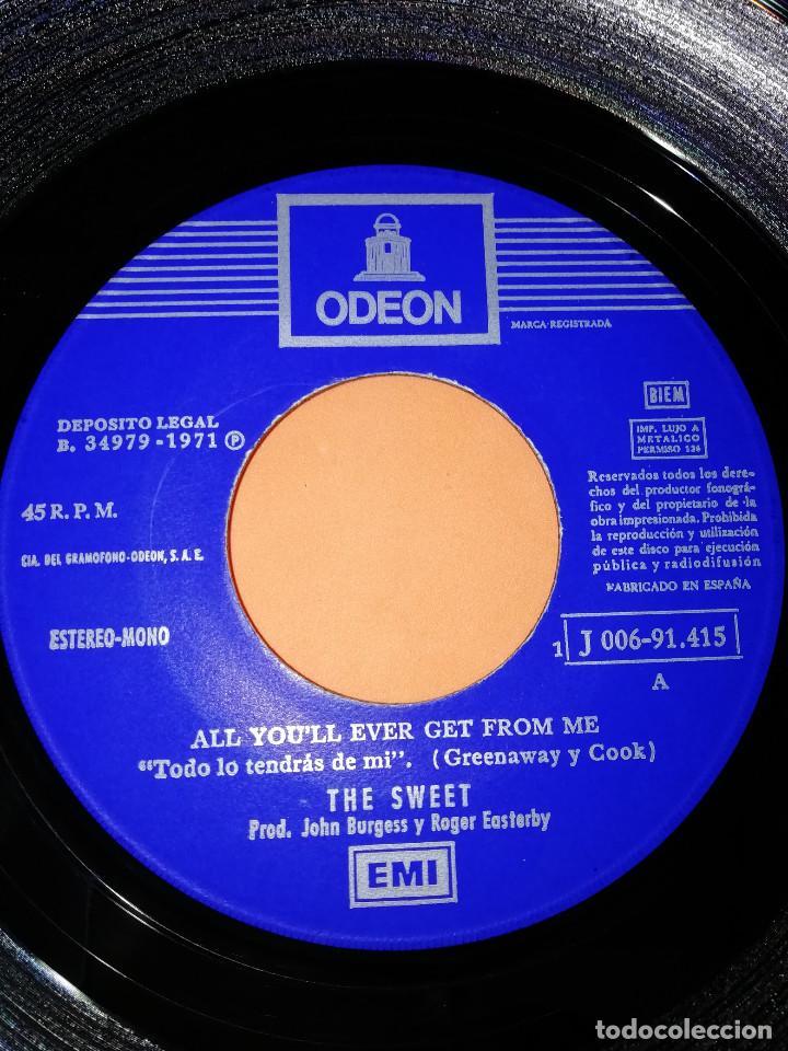 Discos de vinilo: THE SWEET - ALL YOU´LL EVER GET FROM ME / THE JUICER (45 RPM) EMI 1971 - RARO- BUEN ESTADO - Foto 4 - 161206030
