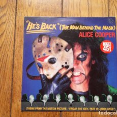 Discos de vinilo: ALICE COOPER - HE'S BACK (THE MAN BEHIND THE MASK) + BILLION DOLLAR BABIES + I' M EIGHTEEN. Lote 161219726