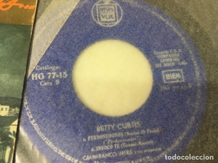Discos de vinilo: Antiguo single ep original años 50/60 Festival de San remo betty curtis - Foto 2 - 161233950