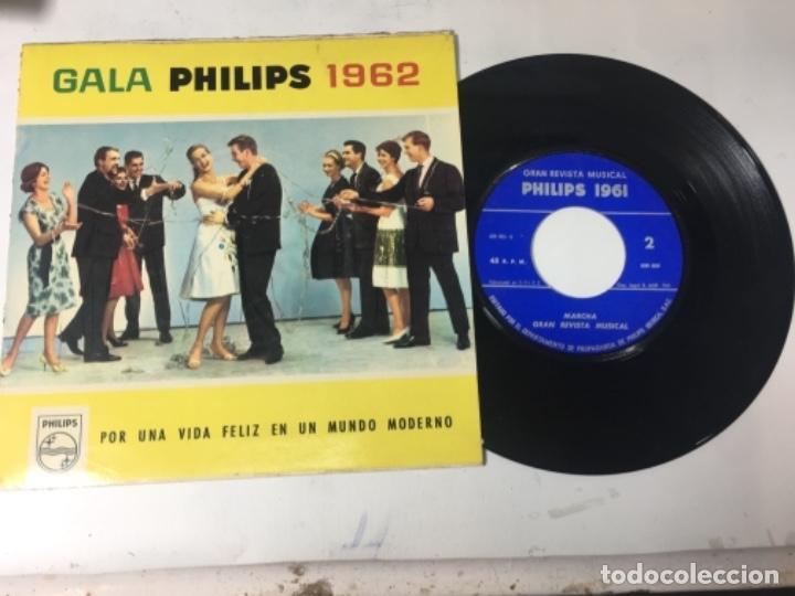 ANTIGUO SINGLE EP ORIGINAL AÑOS 50/60 RARO PUBLICIDAD GALA PHILIPS 1962 (Música - Discos de Vinilo - EPs - Otros Festivales de la Canción)