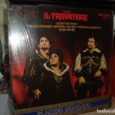 Discos de vinilo: VERDI ,EL TROVATORE , PLACIDO DOMINGO 3 LP EN CAJA , NUEVOS HA ESTRENAR. Lote 161239938