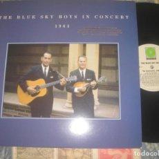 Discos de vinilo: THE BLUE SKY BOYS IN THE CONCERT 1964 PROMO 1989 ROUNDER EDITA USA. Lote 161241658