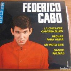 Discos de vinilo: FEDERICO CABO CON LOS BRISKS - SUPER RARO EP ESPAÑOL PROMO BELTER 1965. Lote 161244434