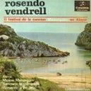 Discos de vinilo: ROSENDO VENDRELL - FESTIVAL CANCION MENORQUINA - XOROI + 3 TEMAS - EP SPAIN 1965. Lote 161248318