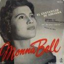 Discos de vinilo: MONNA BELL. EL CANTARILLO DE ADRIANA. EP ESPAÑA. Lote 161253410