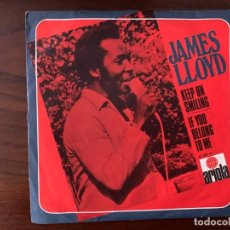 Discos de vinilo: JAMES LLOYD ?– KEEP ON SMILING / IF YOU BELONG TO ME SELLO: ARIOLA ?– 45.387-A FORMATO: VINYL, 7 . Lote 161253842